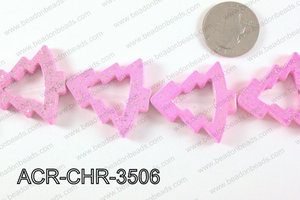 Acrylic Chrismas tree pink 33x35mm ACR-CHR-3506