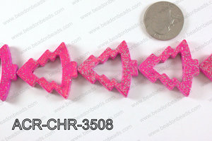 Acrylic Chrismas tree hot pink A833x35mm ACR-CHR-3508