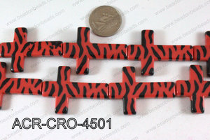 Acrylic Cross Red 45mm ACR-CRO-4501