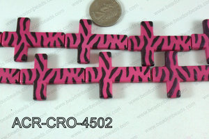 Acrylic Cross Hot Pink 45mm ACR-CRO-4502