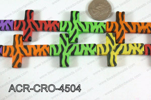 Acrylic Cross Multicolor 45mm ACR-CRO-4504