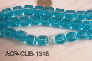Acrylic Cube Plat Surface Light Blue 15mm ACR-CUB-1518