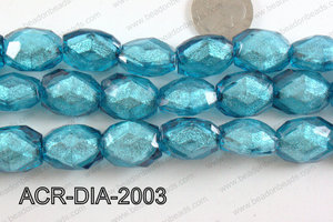 Acrylic Diamond Foil Rectangle Nugget Turquoise 16x20x12mm ACR-D