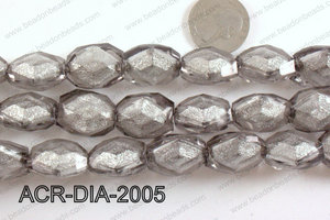 Acrylic Diamond Foil Rectangle Nugget Grey 16x20x12mm ACR-DIA-20