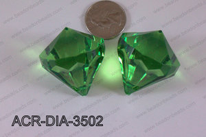 Acrylic Diamond Green 35mm ACR-DIA-3502