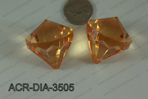 Acrylic Diamond Orange 35mm ACR-DIA-3505