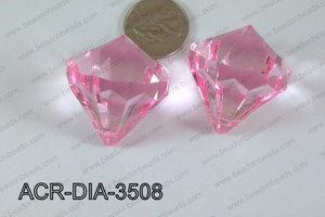 Acrylic Diamond Pink 35mm ACR-DIA-3508