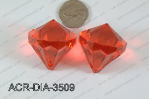 Acrylic Diamond Red 35mm ACR-DIA-3509