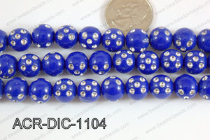 Acrylic Dice Round 11mm dark blue ACR-DIC-1104