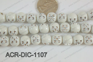 Acrylic Dice Round 11mm white ACR-DIC-1107