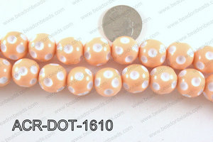 Acrylic Dot Gumball Peach 16mm ACR-DOT-1610