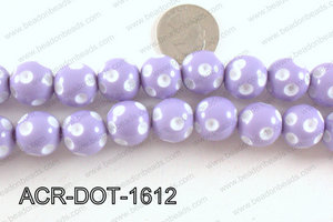 Acrylic Dot Gumball Laveder 16mm ACR-DOT-1612