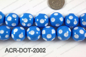 Acrylic Dotted Round Blue 20mm ACR-DOT-2002