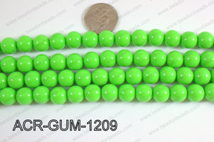 Acrylic Gumball beads green 12mm ACR-GUM-1209