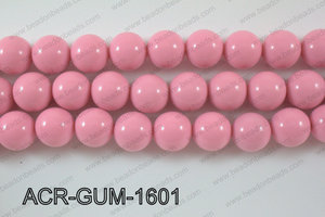Acrylic Gum ball round Light pink 16mm ACR-GUM-1601