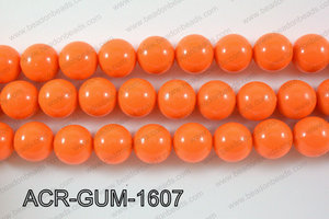 Acrylic Gum ball round Orange 16mm ACR-GUM-1607
