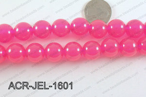 Acrylic Jelly Gumball Hot Pink 16mm ACR-JEL-1601