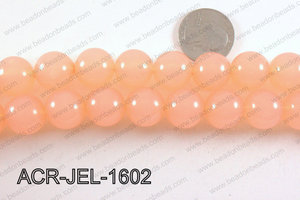 Acrylic Jelly Gumball Peach 16mm ACR-JEL-1602
