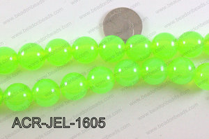 Acrylic Jelly Gumball Lime 16mm ACR-JEL-1605