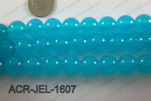 Acrylic Jelly Gumball Round 16mm, Blue ACR-JEL-1607