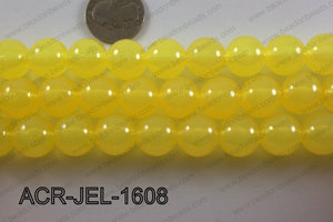 Acrylic Jelly Gumball Round 16mm, Yellow ACR-JEL-1608