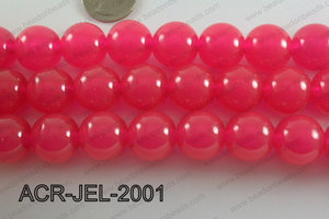 Acrylic Jelly Gumball Round, Hot Pink 20mm ACR-JEL-2001