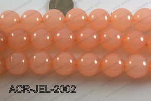 Acrylic Jelly Gumball Round, Peach 20mm ACR-JEL-2002