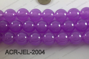 Acrylic Jelly Gumball Round, Purple 20mm ACR-JEL-2004