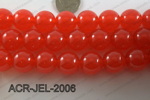 Acrylic Jelly Gumball Round, Red 20mm ACR-JEL-2006