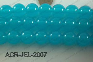 Acrylic Jelly Gumball Round, Blue 20mm ACR-JEL-2007