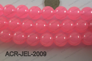 Acrylic Jelly Gumball Round, Light Pink 20mm ACR-JEL-2009