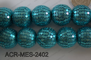 Acrylic Mesh beads 24mm ACR-MES-2402