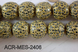 Acrylic Mesh beads 24mm ACR-MES-2406