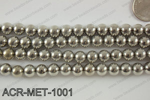 Acrylic metallic coated beads 10mm  ACR-MET-1001