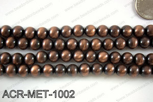 Acrylic metallic coated beads 10mm  ACR-MET-1002