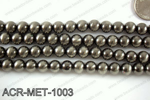 Acrylic metallic coated beads 12mm  ACR-MET-1204