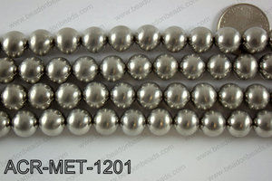 Acrylic metallic coated beads 12mm  ACR-MET-1201