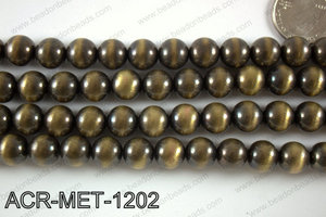 Acrylic metallic coated beads 12mm  ACR-MET-1202