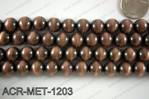 Acrylic metallic coated beads 12mm  ACR-MET-1203