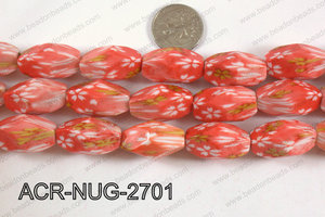 Acrylic Nugget faceted 16x27mm orange ACR-NUG-2701