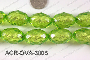 Acrylic Foil Faceted Oval 30x20mm ACR-OVA-3005