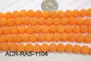 Acrylic Raspberry round Orange 11mm ACR-RAS-1104