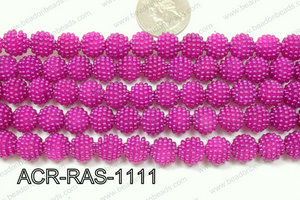 Acrylic Raspberry round Dark Purple 11mm ACR-RAS-1111