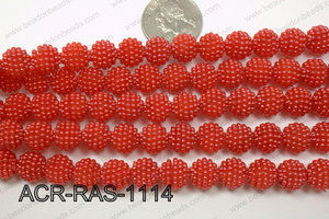 Acrylic Raspberry round Red 11mm ACR-RAS-1114
