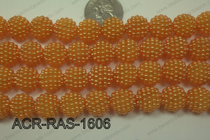 Acrylic Raspberry round Orange 14mm ACR-RAS-1606