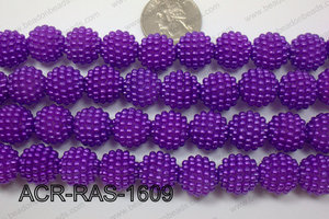 Acrylic Raspberry round Purple 14mm ACR-RAS-1609