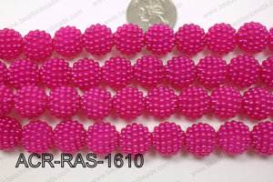 Acrylic Raspberry round Hot Pink 14mm ACR-RAS-1610