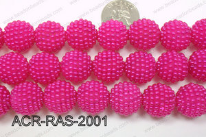 Acrylic Raspberry round Hot Pink 18mm ACR-RAS-2001
