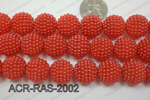 Acrylic Raspberry round Red 18mm ACR-RAS-2002