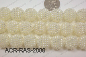 Acrylic Raspberry round Cream 18mm ACR-RAS-2006